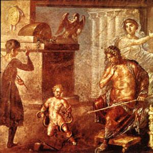 Héraclès étouffant les serpents,