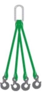 Four leg Web sling