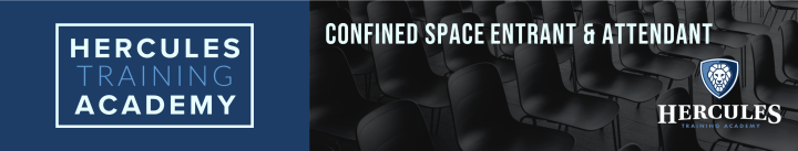 Confined Space Entrant & Attendant training course header