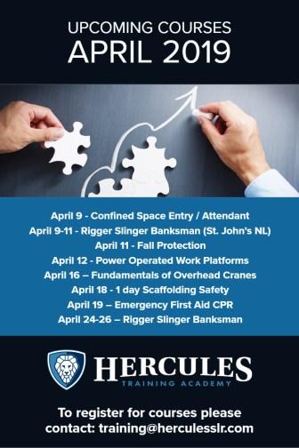 Training Courses April