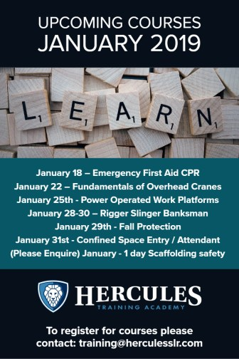 Training Courses January