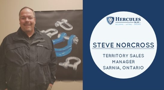 steve norcross territory sales manager at hercules slr, rigging industry