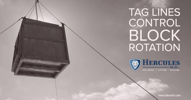 taglines controlling a load