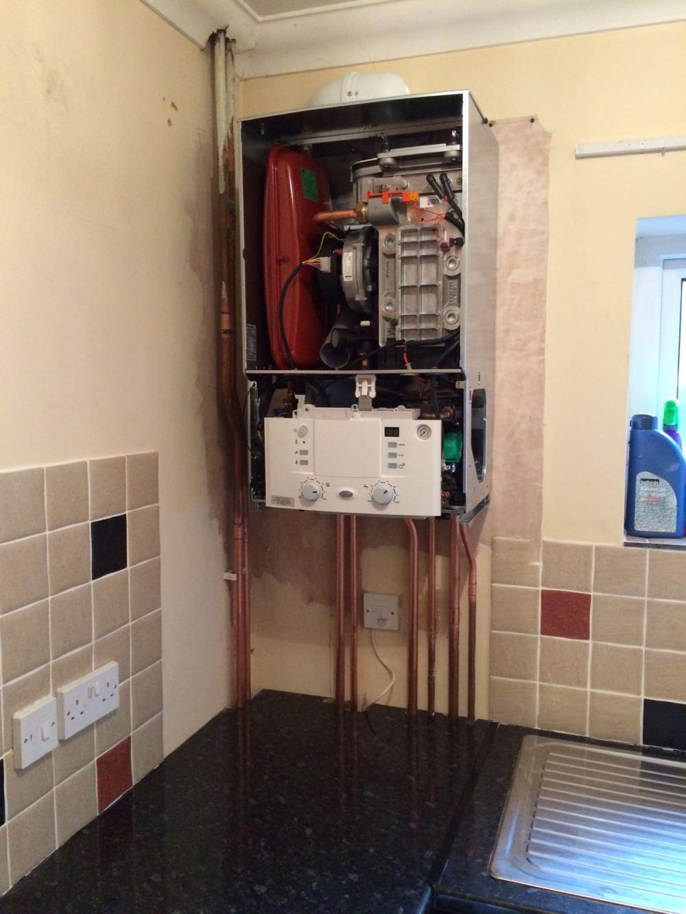 medium resolution of a typical combination boiler installation