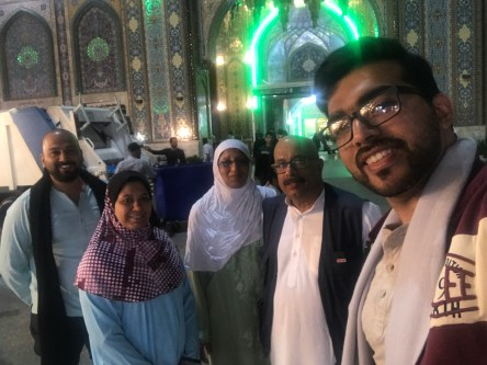 With my parents and cousions outside Moulana Abbas Alamdar's masjid, Karbala