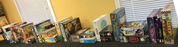 Games set up for Sat., Sept 19 Virtual Game Auction at HBB&G