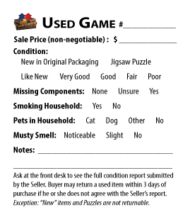 Used Game Condition Tag