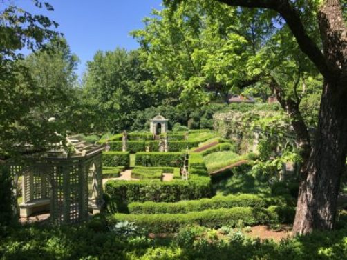 View of Rose Garden at Mount Sharon/Photo: Here By Design