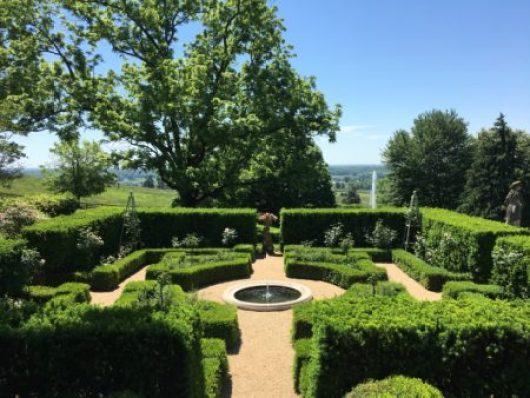 View across Rose Garden at Mount Sharon/Photo: Here By Design
