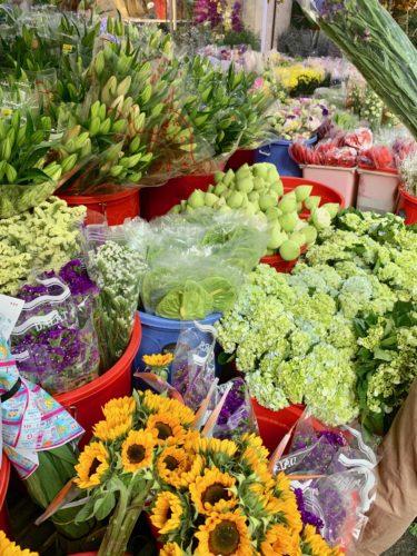 Fresh flowers for sale at Saigon's largest flower market