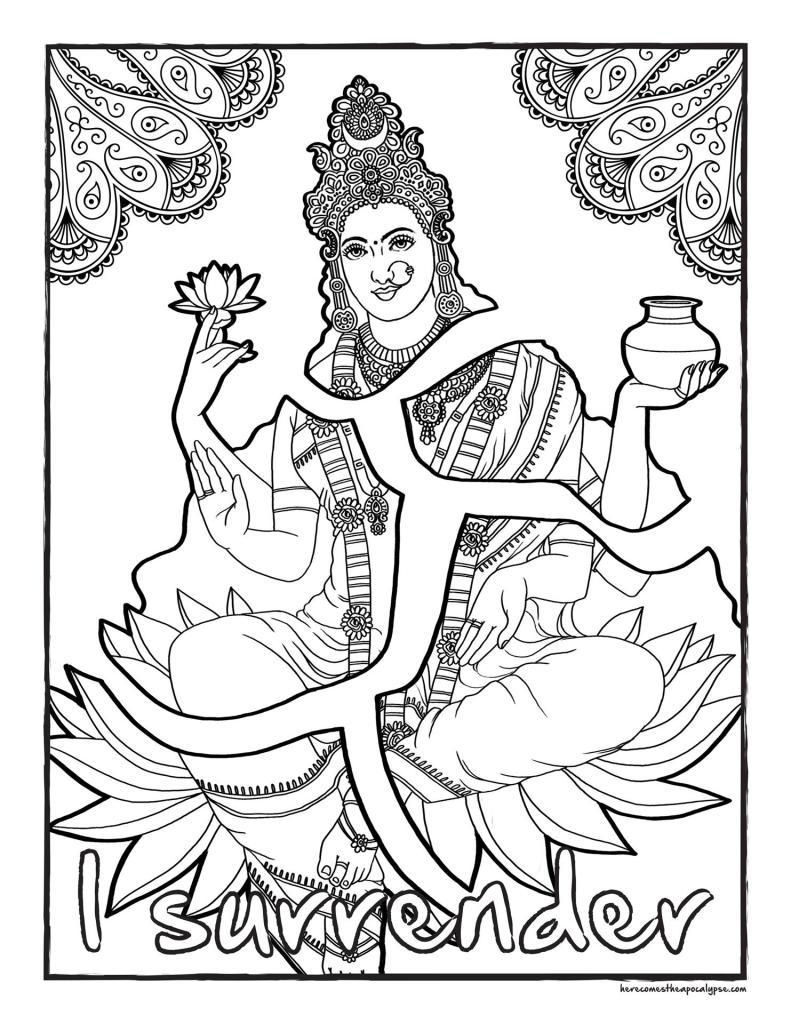 Goddess Coloring Page