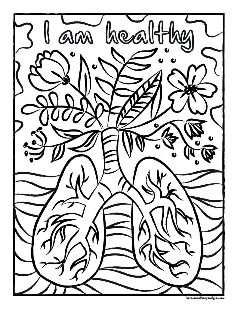 Quarantine Coloring Page