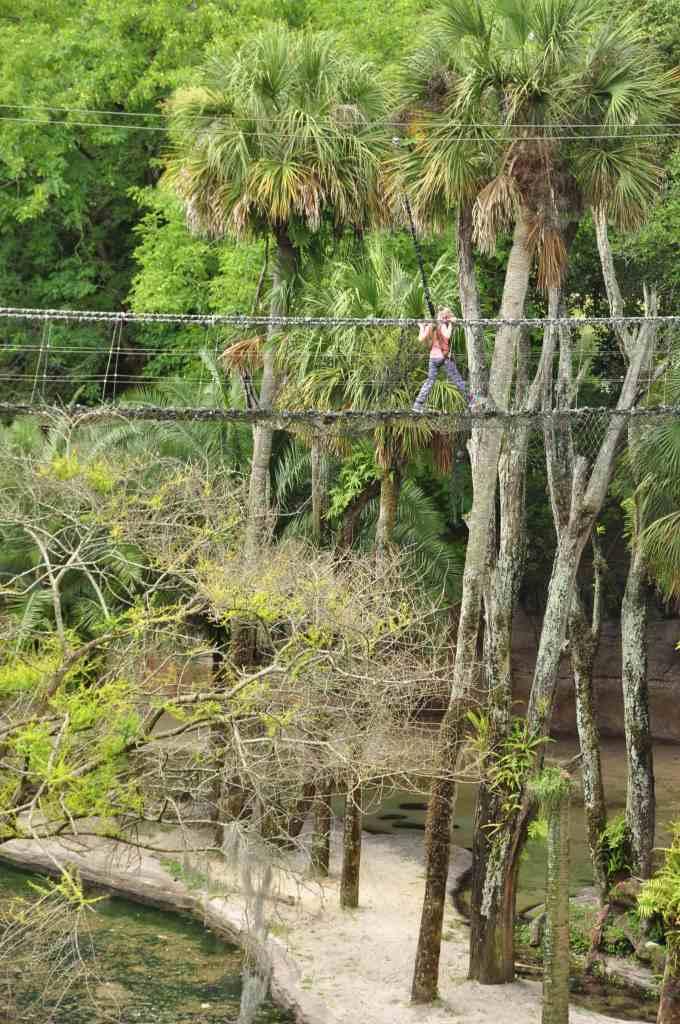 Imogen over the Rope Bridge