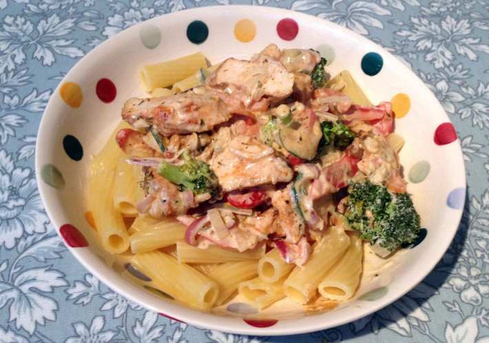 Katie Coyote's Grilled Chicken Pasta