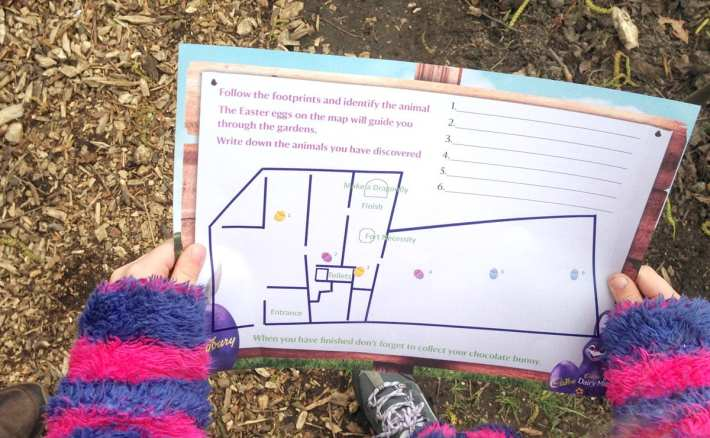 Washington Old Hall Easter Egg Hunt Map