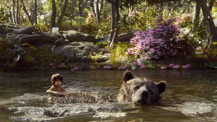 Mowgli and Baloo in The Jungle Book