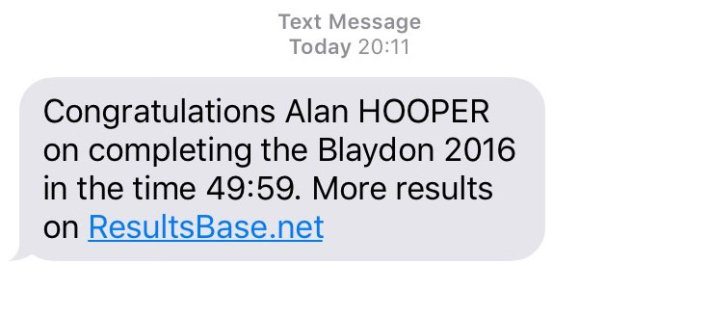 Blaydon Race Results