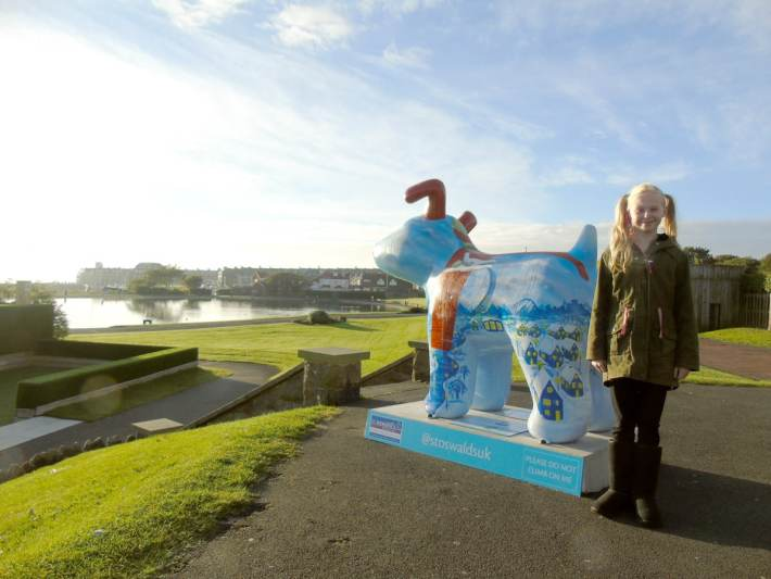 Great North Snowdogs - Snow Angel of the North