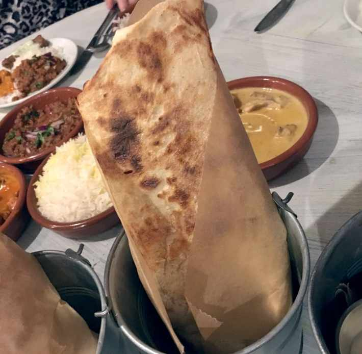 Indian naan breads