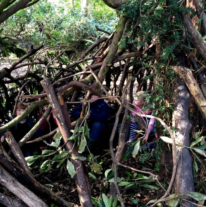 Den Building at Beamish Wild
