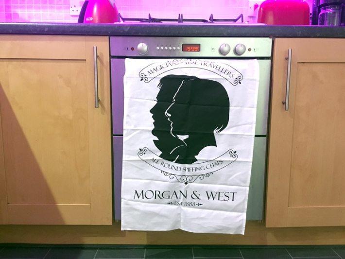 Morgan and West Tea Towel