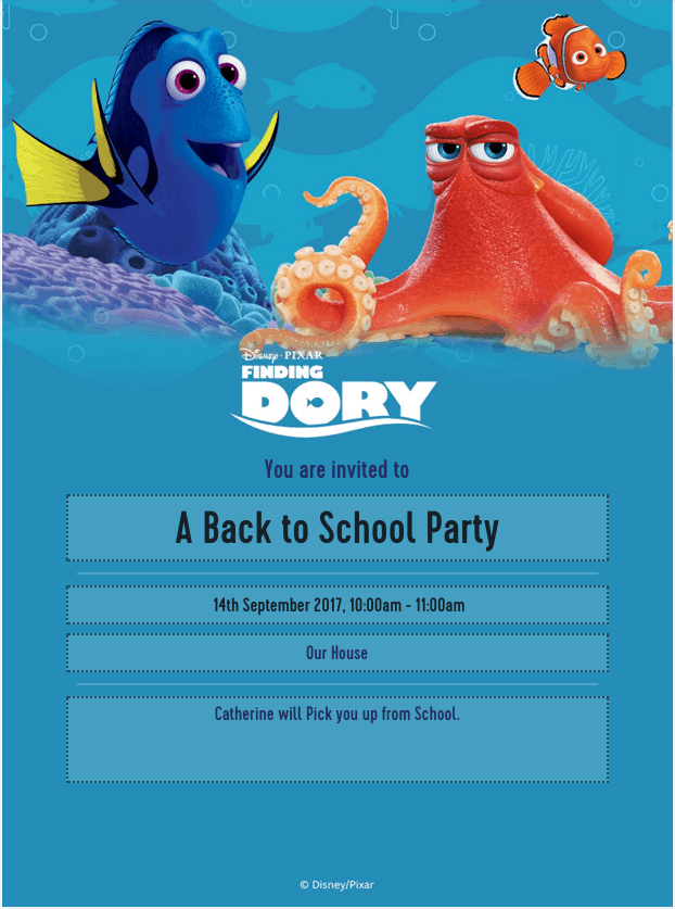 Finding Dory Party Sets