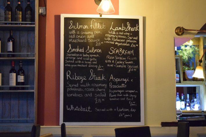 Basilico menu