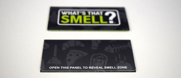 What's That Smell? Scratch and sniff party game