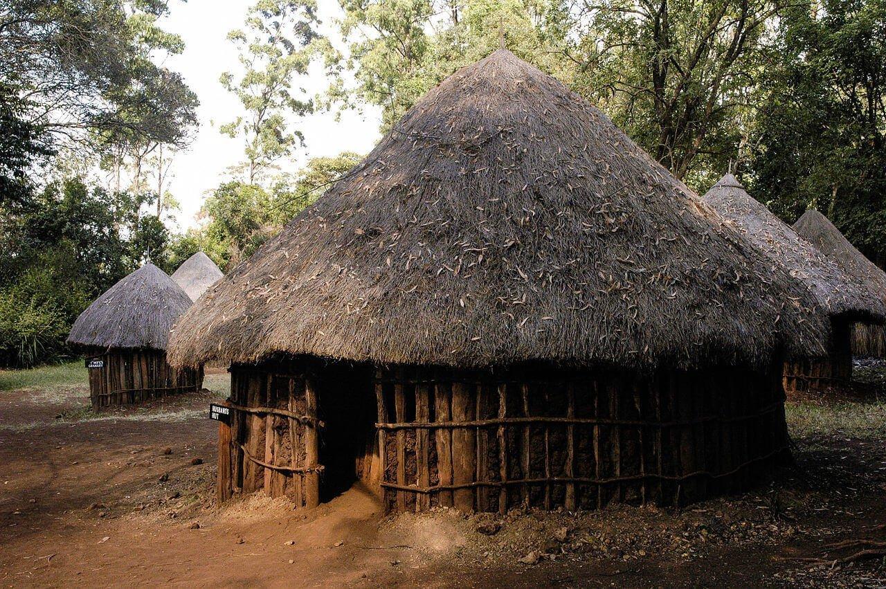 Husbands Hut in Taita village at Bomas of Kenya near Nairobi 1