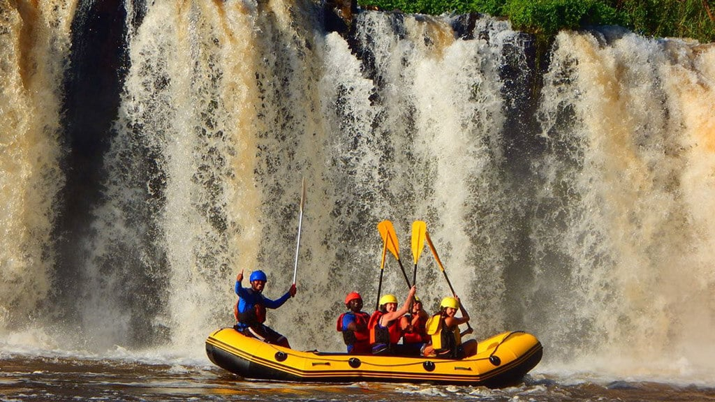 Rafting at Jangwani Camp Sagana