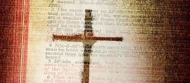 Scripture and a cross