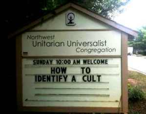 Universalist Unitartian sign