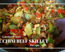 A freshly prepared dish of Zucchini Beef Skillet recipe