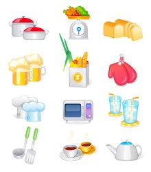 vector cocina kitchen icons utensilios cooking material sunflower supplies icon utensils graphics su freebies pack background icono suministros