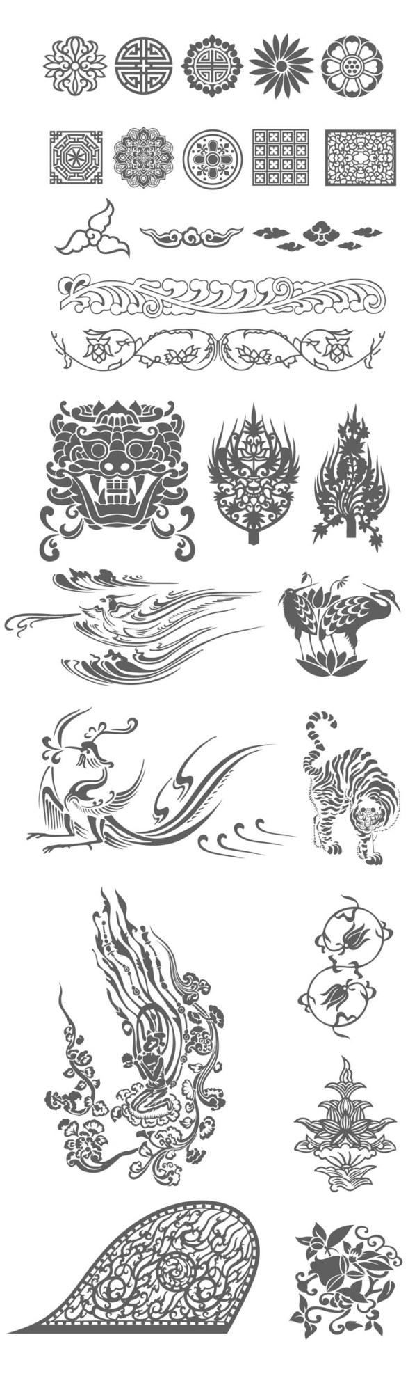 Keywords Chinese Style Pattern Good Fortune Lace Lion