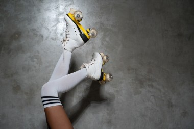 woman on roller skates