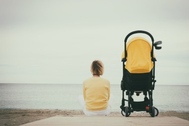 Stroller at the beach
