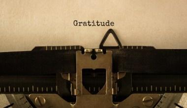 gratitude journal entry