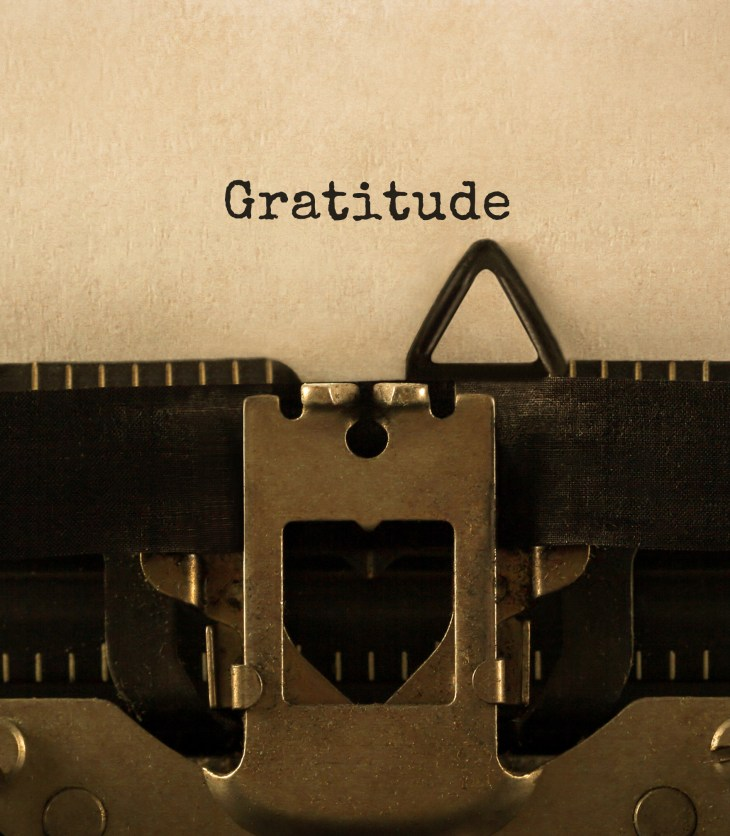 gratitude journal entry