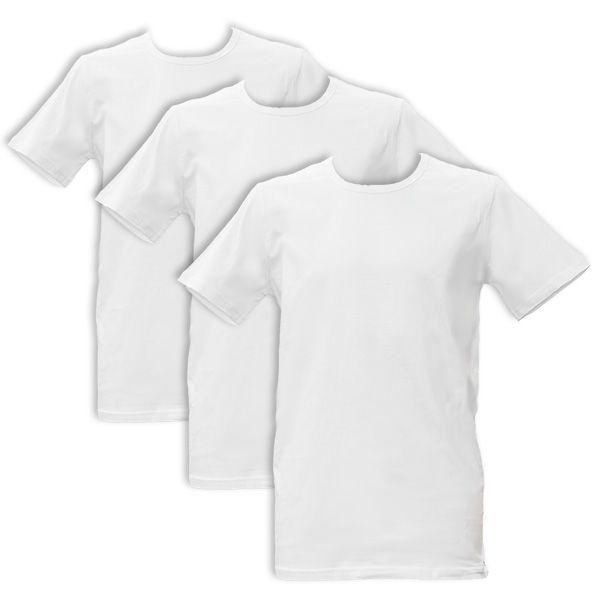 Apollo Heren T-shirts O-Neck 3-pack White