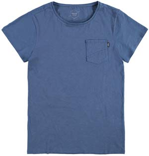 Brunotti Alonte Heren T-shirt Ronde hals Jeans Blue