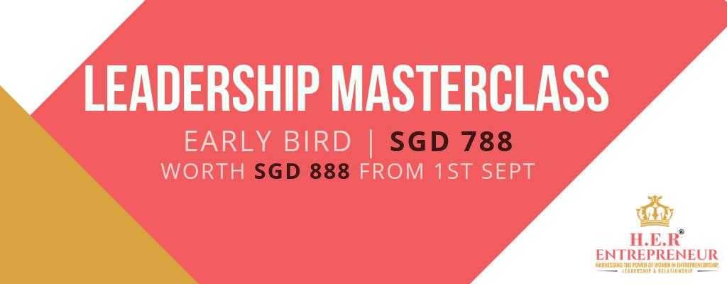 Early Bird Leadership Masterclass Banner