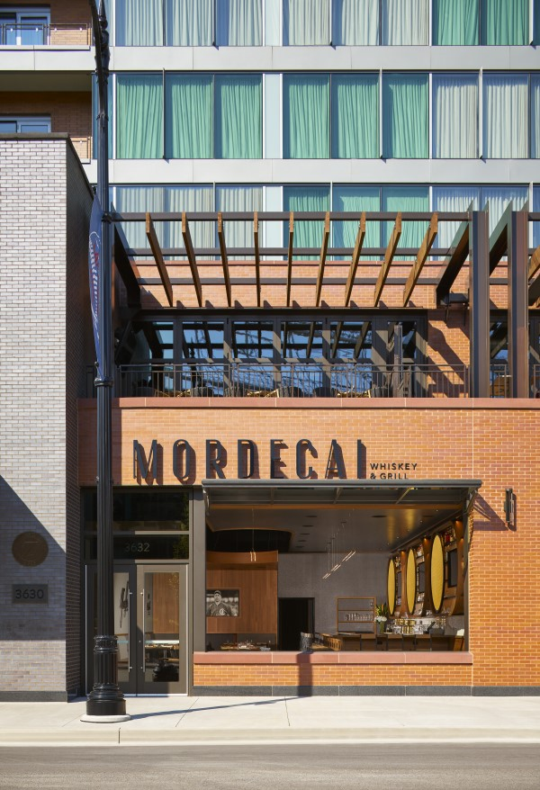 Mordecai includes a private lounge and terrace facing