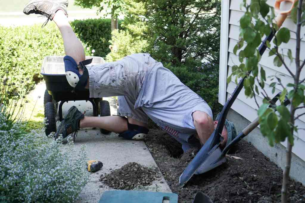 Hand Digging Espalier Post