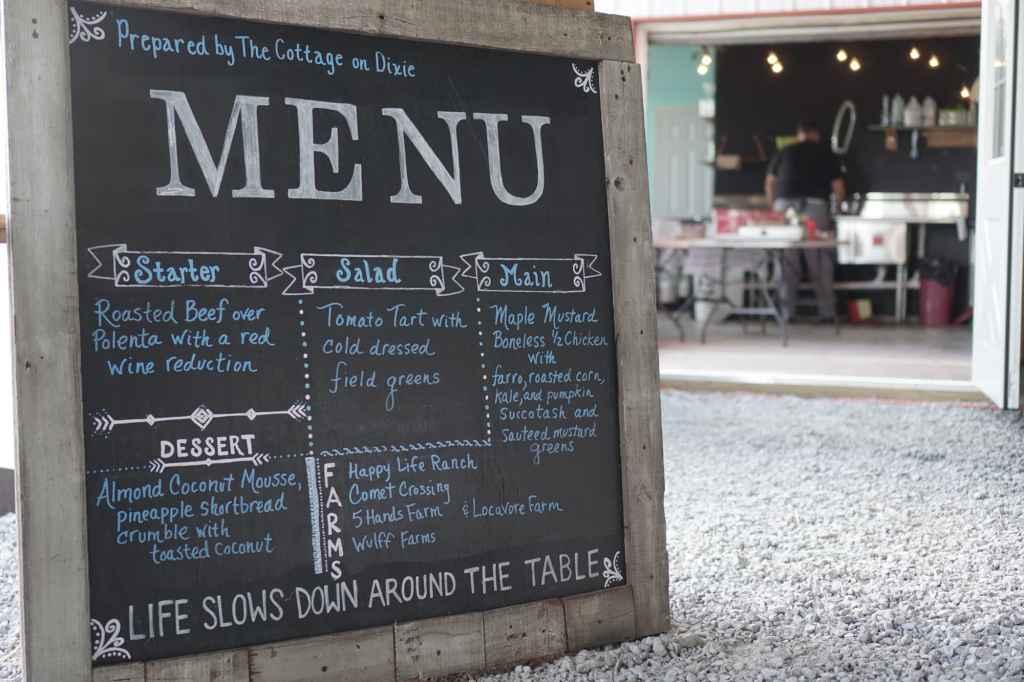 Slow Food Chalkboard Menu