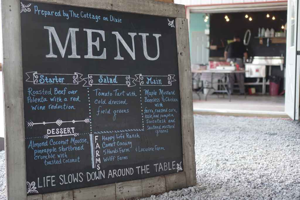 Slow Food Chalkboard Menu
