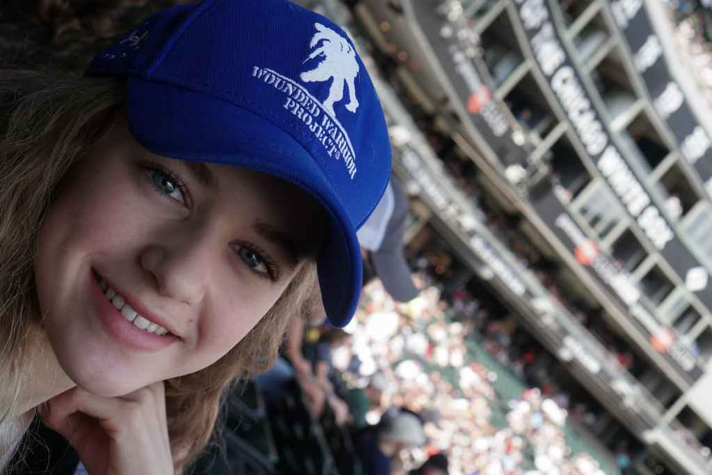 Abigail White Sox Game after SIBO