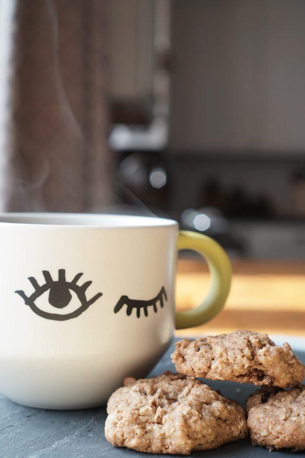 Steaming Coffee Oatmeal Cookies