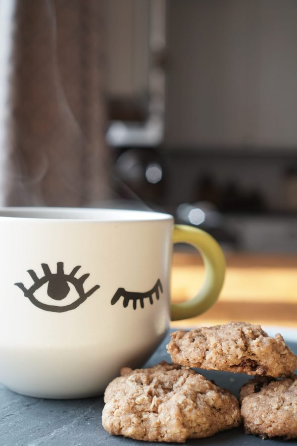 Steaming Coffee Oatmeal Cookies