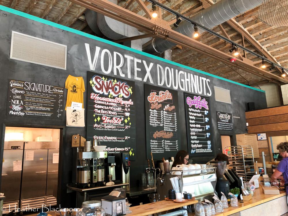 Vortex Doughnuts menu